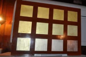 Виды сусального золота в мастерской Венеции