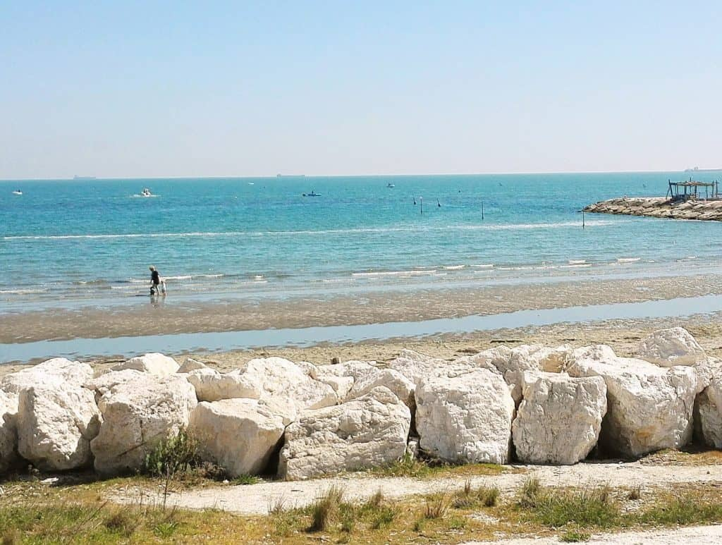 Isole di Venezia, spiaggia dei Murazzi