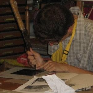 Мастер класс по печати методом гравировки в Венеции