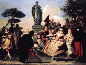 Венецианский карнавал. История - картина Тьеполо Минуэт