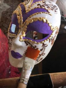 Создание, декор венецианской маски