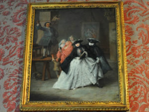 История венецианской маски баута на картине Пьетро Лонги - Шарлатан