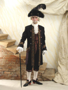 Прокат венецианского мужского костюма 18 века