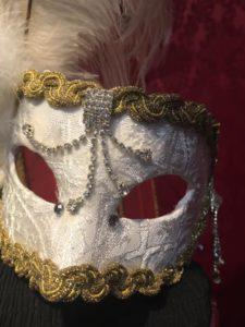 Результат декор венецианской маски тканью