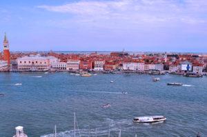 Знаменитые отели Венеции вид с лагуны